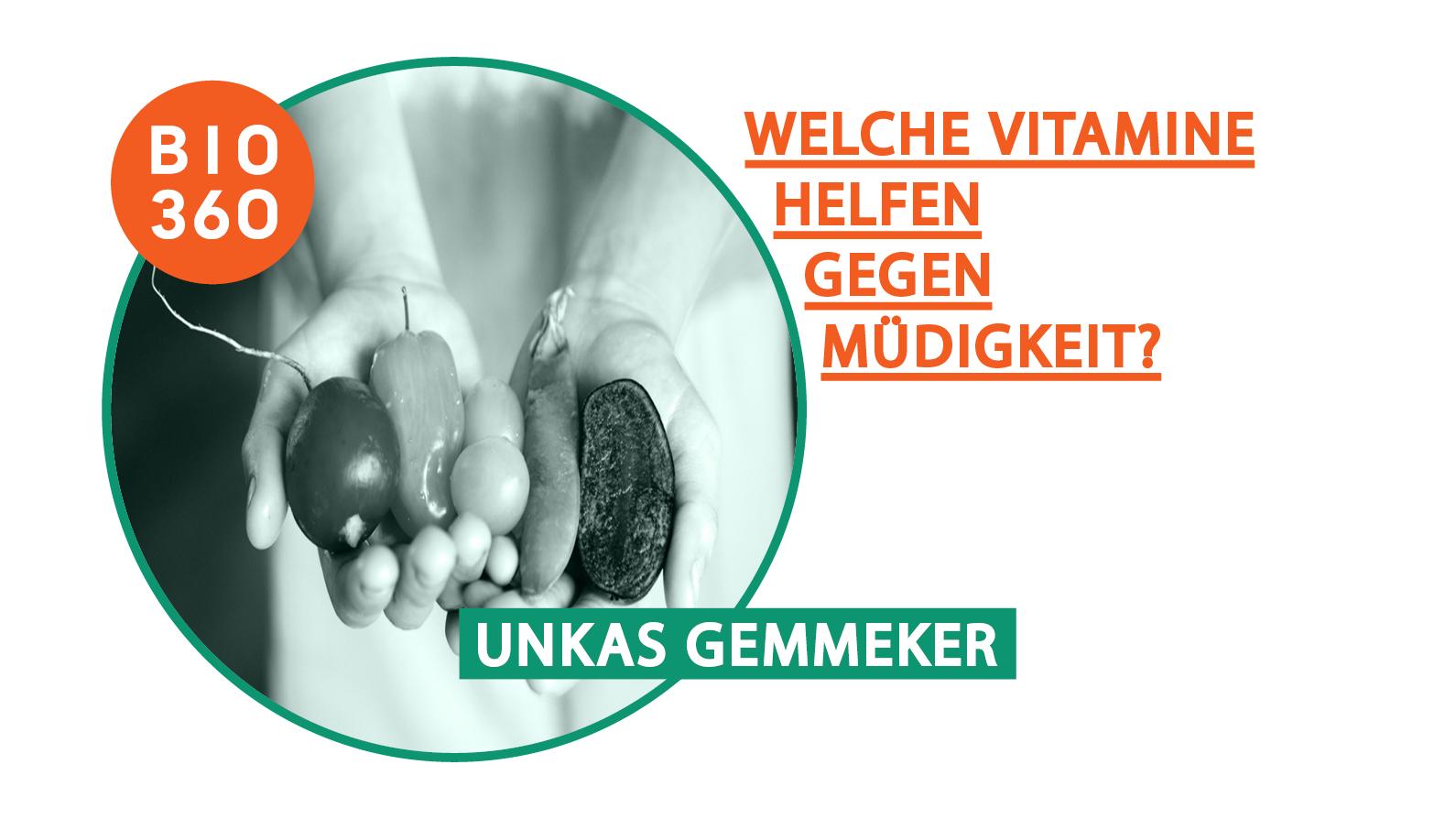 Vitamine gegen Müdigkeit aus frischem Gemüse und Obst in zwei Kinderhänden mit Radieschen, Paprika, Rosenkohl Bio360